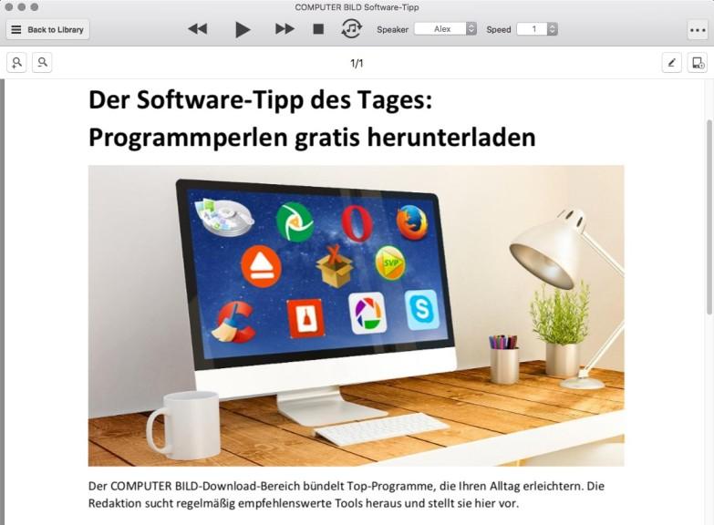 Screenshot 1 - NaturalReader (Mac)