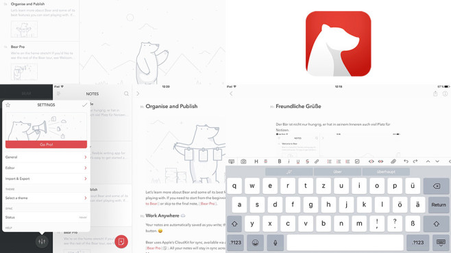 Bear – beautiful writing app for notes and prose ©Shiny Frog di Matteo Rattotti e C. S.N.C.