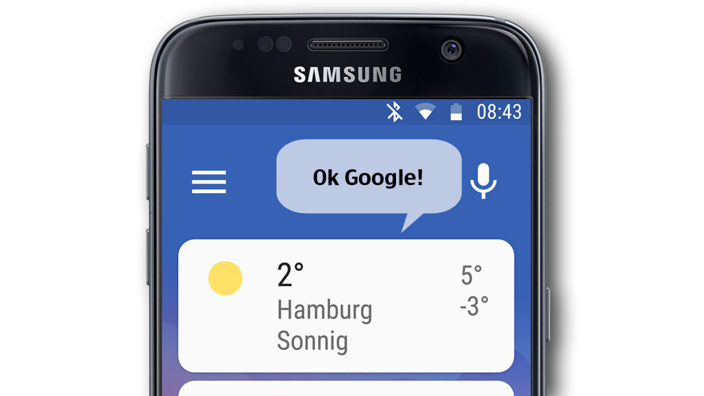 android auto app reagiert auf ok google computer bild. Black Bedroom Furniture Sets. Home Design Ideas