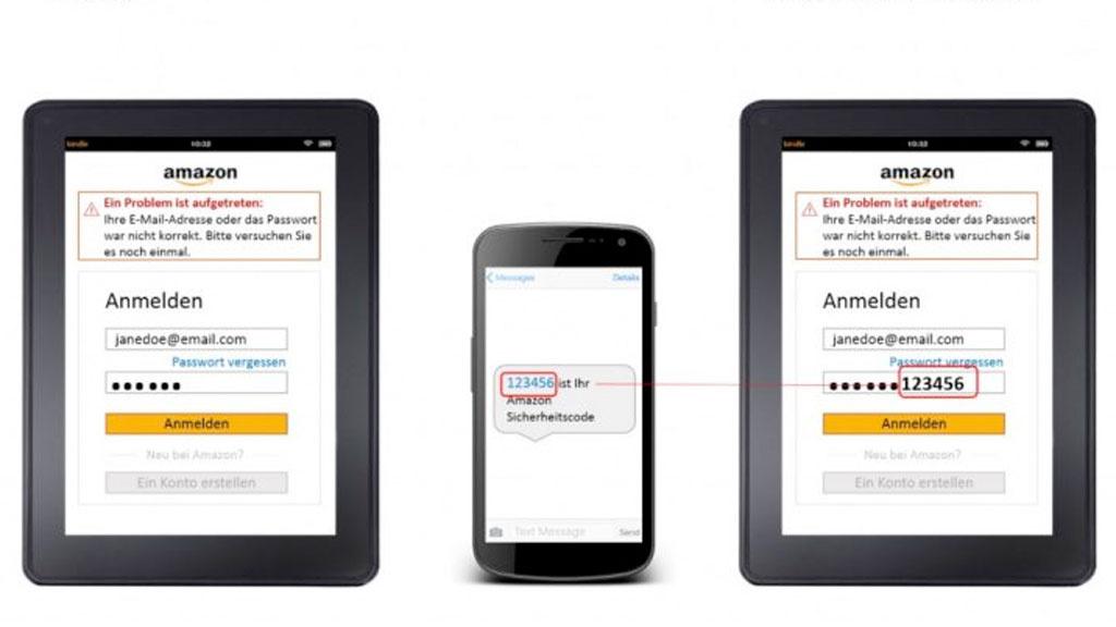 Amazon 2 Faktor Authentifizierung