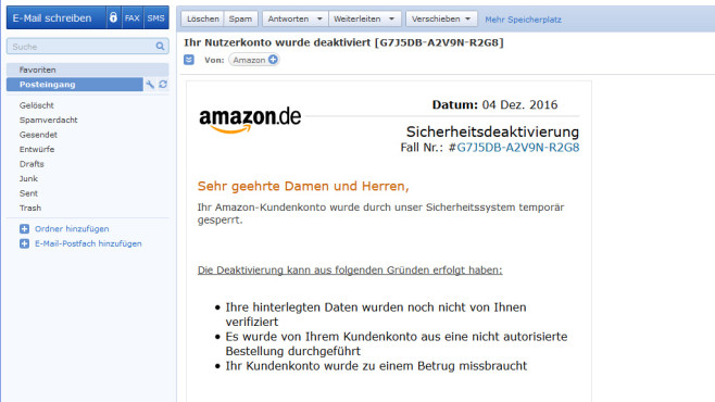 Amazon-Phishing © COMPUTER BILD