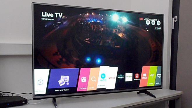 ultra hd smart tv lg 55uh615v im test audio video foto bild. Black Bedroom Furniture Sets. Home Design Ideas
