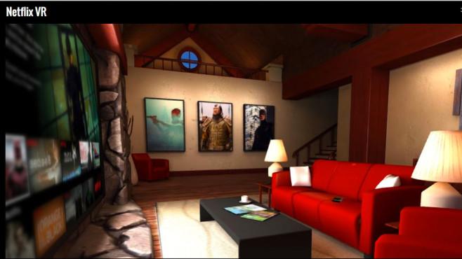 Mit Netflix VR lassen sich Filme und Serien in einem digitalen Wohnzimmer anschauen©Netflix VR