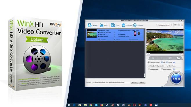 Platz 36: WinX HD Video Converter Deluxe – Kostenlose Vollversion (neu) ©COMPUTER BILD