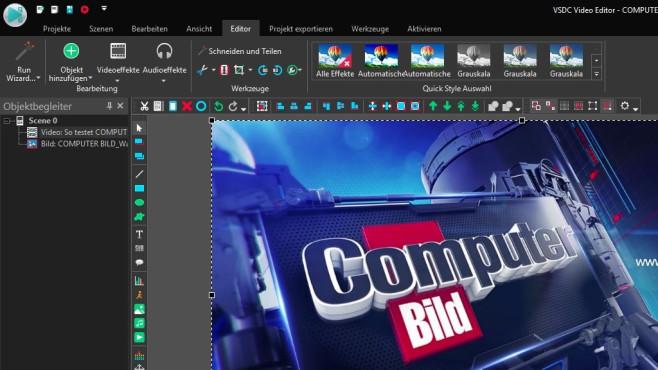 VSDC Free Video Editor ©COMPUTER BILD