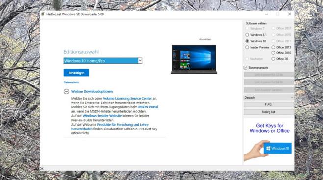 Windows ISO Downloader ©COMPUTER BILD