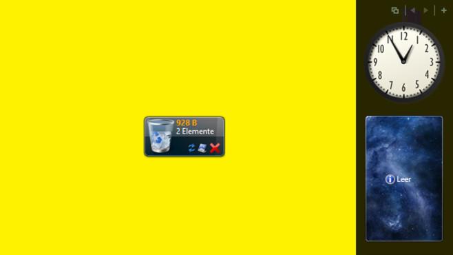 Desktop-Ablage per 8GadgetPack ©COMPUTER BILD