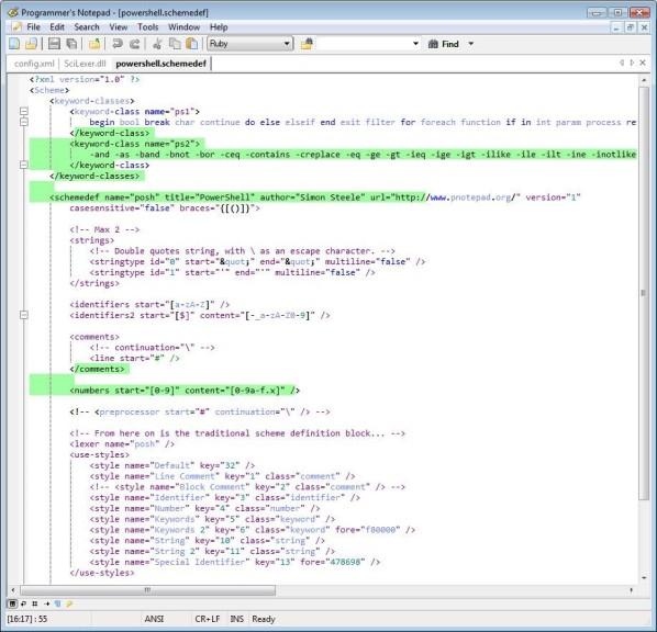 Screenshot 1 - Programmer's Notepad