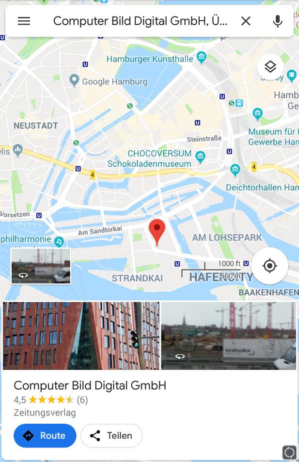 Screenshot 1 - Google Maps (Android-App)