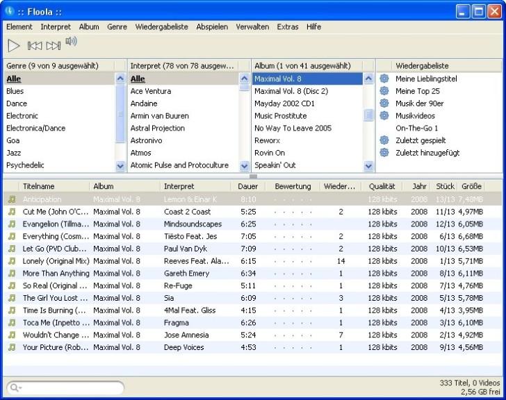 Screenshot 1 - Floola für iPod