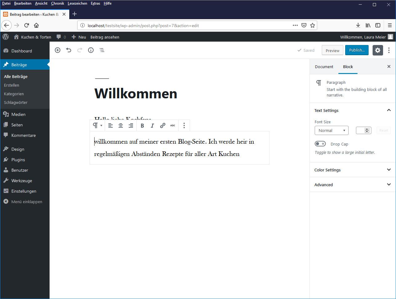 Screenshot 1 - WordPress