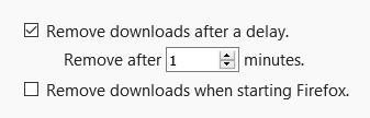Screenshot 1 - Download Cleaner Lite für Firefox