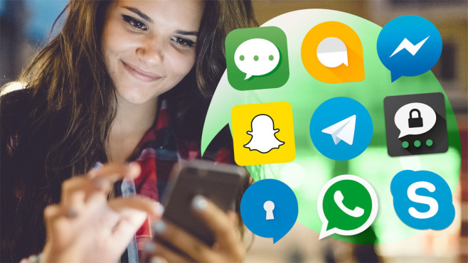 Messenger-Apps im Test©Apple, Google, Facebook, Snapchat, Telegram, Threema, Signal, WhatsApp Inc, Microsoft, ©istock.com/martin-dm