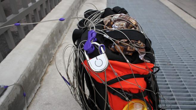 Das TappLock an einem Rucksack©TappLock