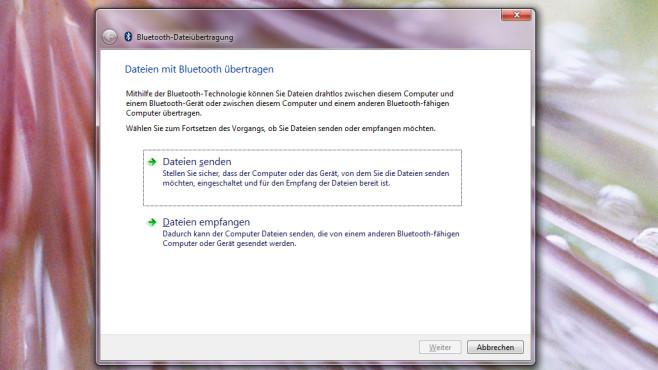 Bluetooth-Dateiübertragung ©COMPUTER BILD
