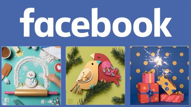 Facebook-Grußkarten Weihnachten Silvester