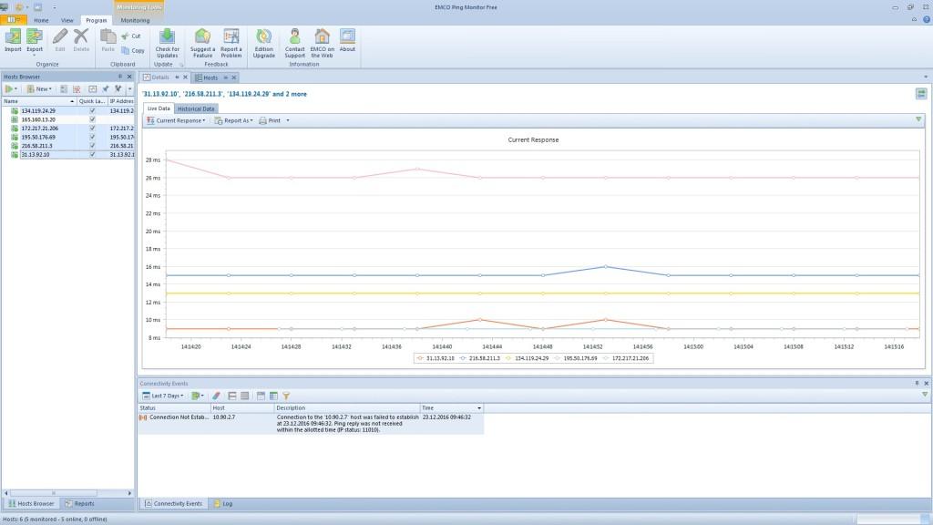 Screenshot 1 - Ping Monitor