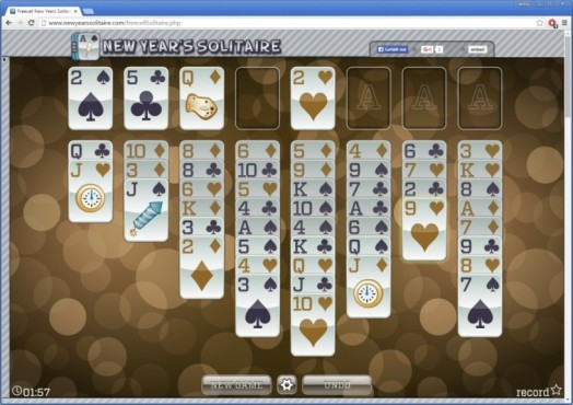 Neujahrs-Solitaire © 24/7 Games