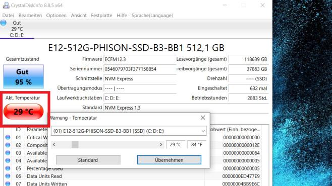 SSD-Defekt erkennen: So analysieren Sie mit CrystalDiskInfo Ihr Laufwerk©COMPUTER BILD