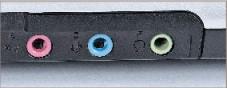 Targa Traveller 1574 X2 An die Buchsen für Mikrofon, Toneingang und Kopfhörer läßt sich auch Heimkinoton-Lautsprecher-Set mit eingebautem Verstärker anschließen.