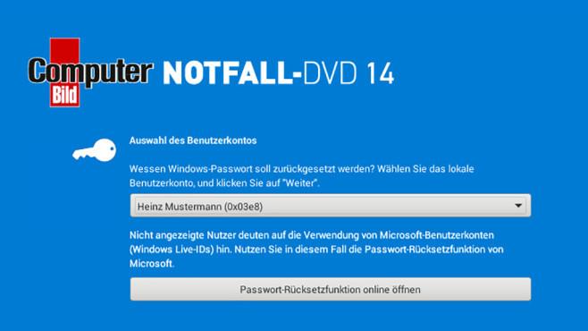 Microsoft-Konto zurücksetzen ©COMPUTER BILD