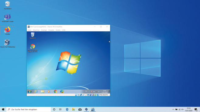 Windows 7 als virtuellen PC starten © COMPUTER BILD