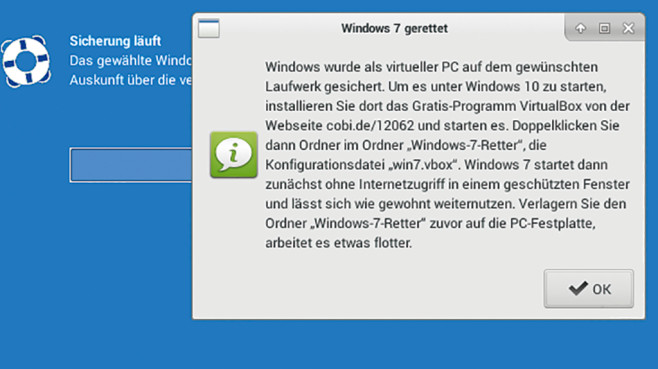 Windows 7 retten ©COMPUTER BILD