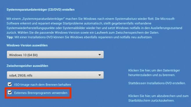 Windows-Datenträger erstellen ©COMPUTER BILD