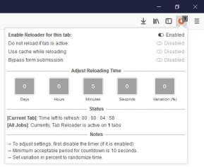 Tab Reloader für Firefox (Page Auto Refresh)