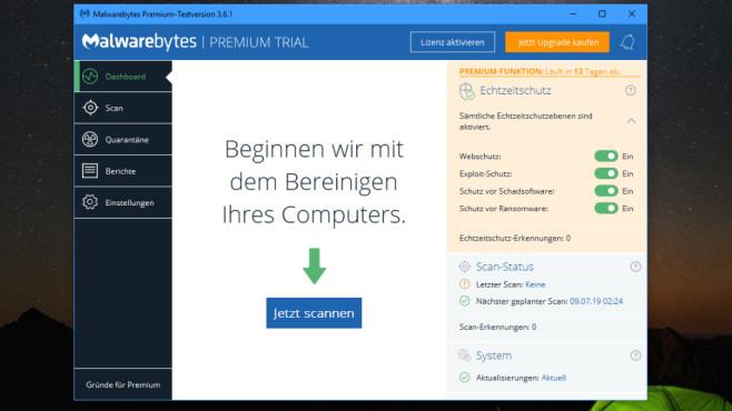 Malwarebytes: Zusatz-Software für Virenschutz©COMPUTER BILD