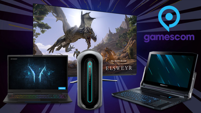 Neue Hardware-Highlights für Gamer © Gamescom, Alienware, Erazer, Acer