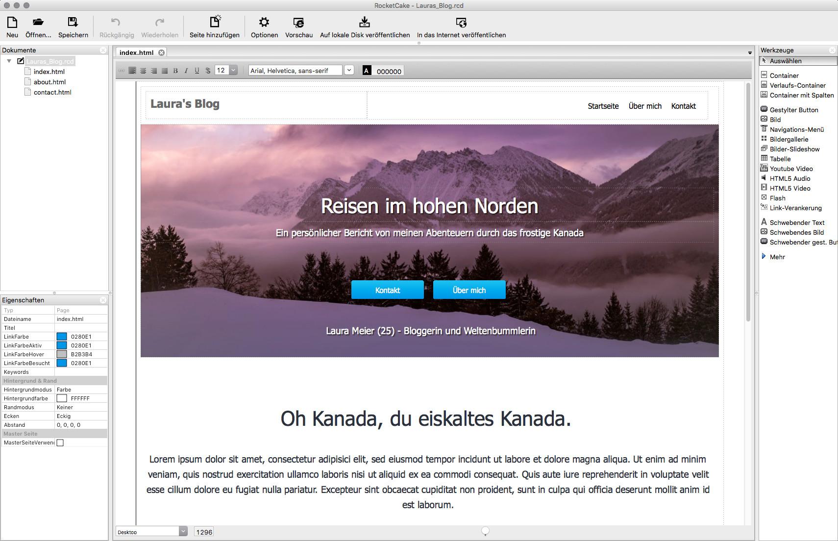 Screenshot 1 - RocketCake (Mac)