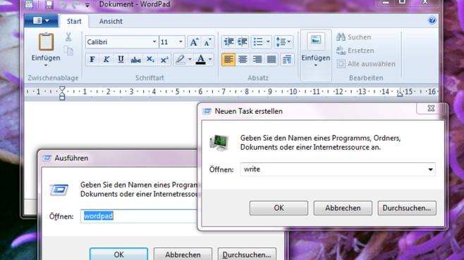 WordPad öffnen ©COMPUTER BILD