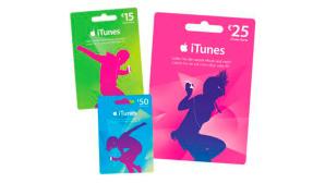 Apple iTunes Geschenkarten©Apple iTunes
