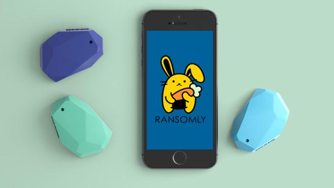 Ransomly App und Beacon©Ransomly