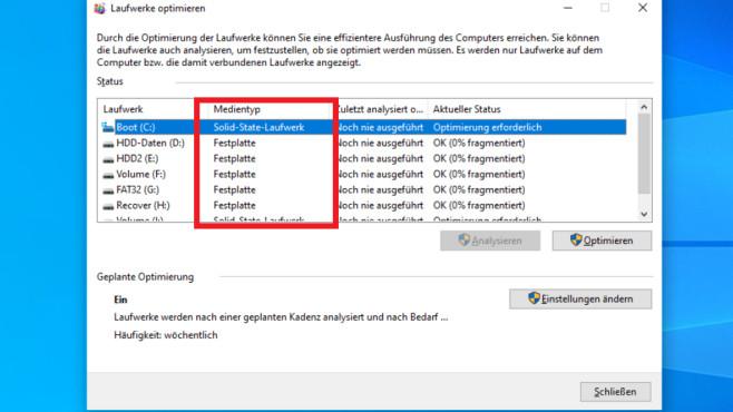 Windows 7/8/10: Habe ich eine HDD oder SSD-Festplatte? – Vier schnelle Tests©COMPUTER BILD