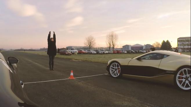 Rimac Concept_One vs. Bugatti Veyron©YouTube