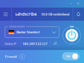 Windscribe VPN (Mac)
