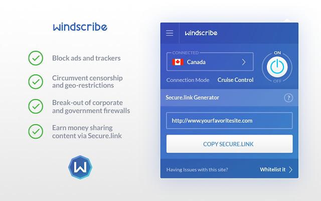 Screenshot 1 - Windscribe VPN für Chrome
