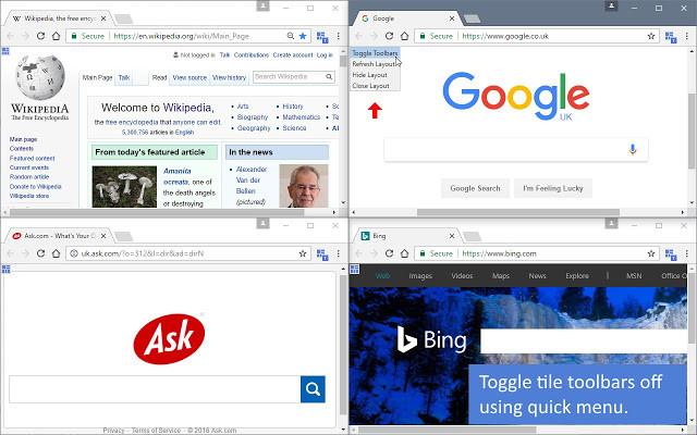 Screenshot 1 - Tile Tabs WE für Chrome