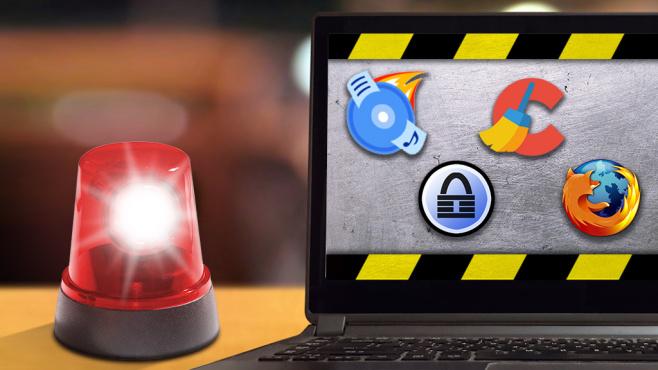 Killer-Tools: CCleaner & Co.©CDBurnerXP, Piriform, KeePass, Mozilla; Bildgigant – Fotolia.com,  razihusin – Fotolia.com