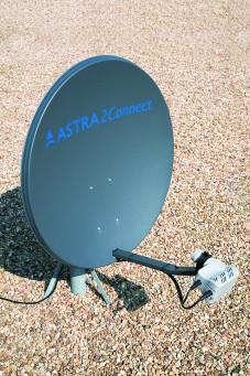 Schnelles Internet überall Schnelles Internet per Satellit lässt sich überall empfangen.