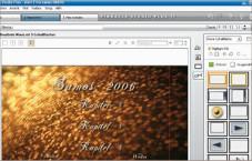 Pinnacle Studio Ultimate 11 Viel Auswahl, um DVD-Menüs zu erstellen: Mit Studio sind auch animierte Hintergründe möglich. Schaltflächen lassen sich frei platzieren.