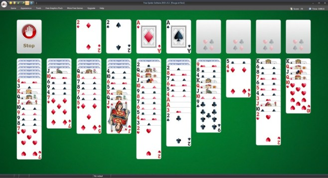 Free Spider Solitaire ©TreeCardGames