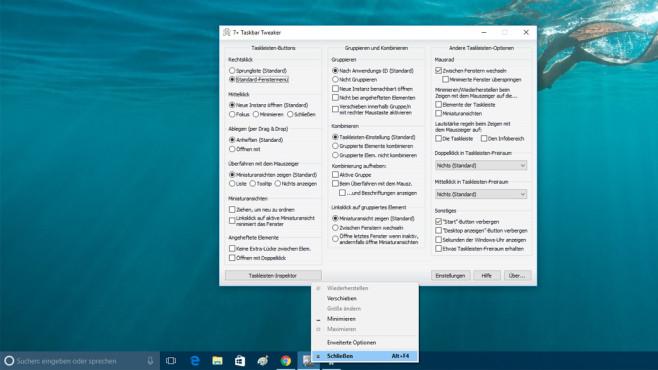 7+ Taskbar Tweaker: Taskleiste optimieren ©COMPUTER BILD
