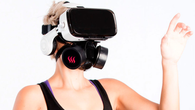 OhRoma: CamSoda bringt Geruchsmaske für VR-Pornos Mit der OhRoma bringt das Erotik-Unternehmen CamSoda im Herbst 2017 eine VR-Geruchsmaske auf den Markt.©CamSoda