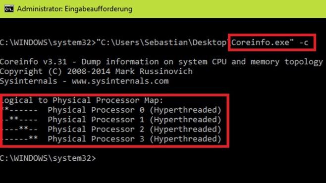 CoreInfo: Prozessor professionell analysieren ©COMPUTER BILD