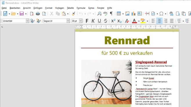 LibreOffice: An Bürodokumenten werkeln ©COMPUTER BILD