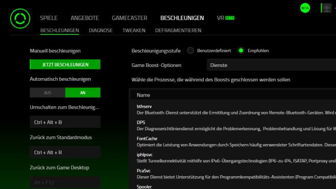 Razer Cortex: Game Booster: Spiele-Frameraten anheben ©COMPUTER BILD
