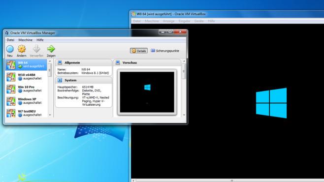 VirtualBox: Mehrere Betriebssysteme betreiben ©COMPUTER BILD